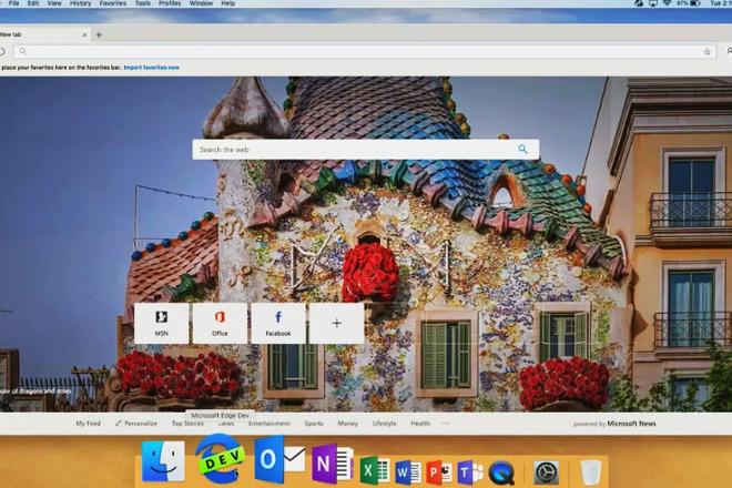 早期的开发版为微软的Edge for Mac上线