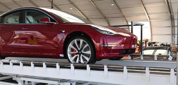 特斯拉的中国制造的Model 3比进口版本的成本低近10,000美元