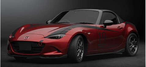 2019年Mazda3工厂车身套件和MX-5碳纤维顶部显露