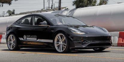 顶级齿轮测试未插电特斯拉模型3