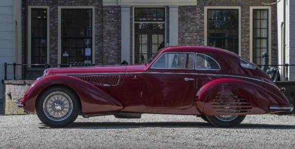 1939年阿尔法罗密欧8C Touring Berlinetta可以在拍卖会上带来2500万