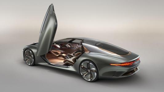 宾利推出了最新的原型车 这是一款名为EXP100的全电动概念车