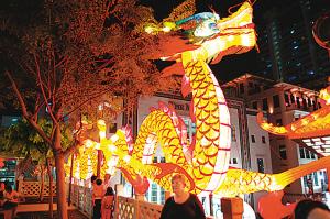 纪念新加坡历史在2019年唐人街中秋节的唯一一百周年纪念
