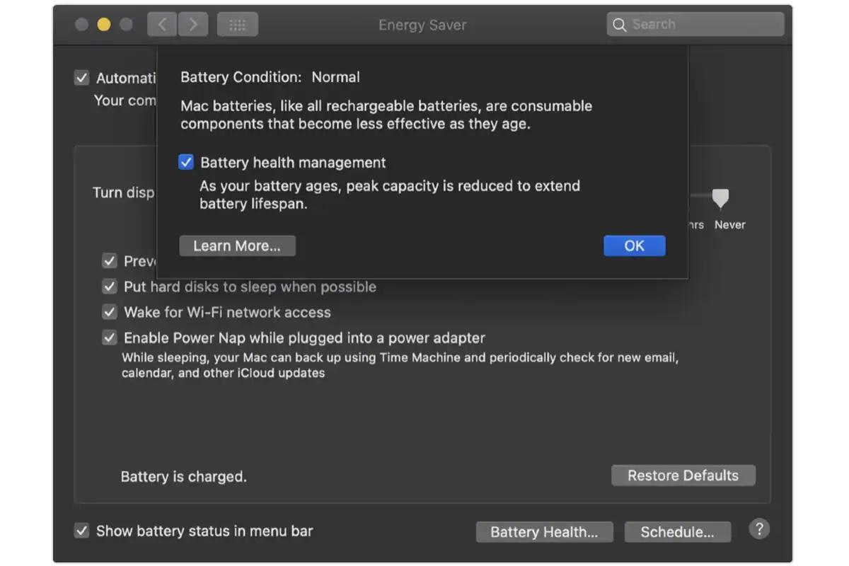 """苹果将为MacBooks提供""""电池健康管理""""功能,以延长电池寿命"""