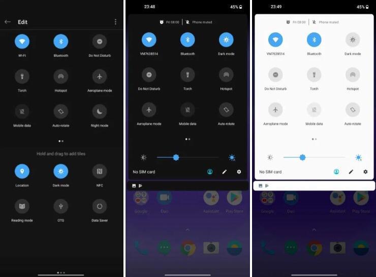 一加8、8 Pro通过Android 11 Beta升级获得一键式暗模式切换