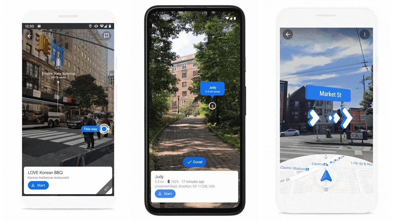 Google Maps Live View即将显示地标,在移动设备上共享位置