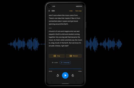 Google Recorder应用即将推出音频编辑功能