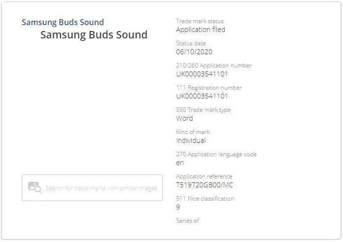 商标暗示三星可能正在开发真无线耳机Galaxy Buds Sound