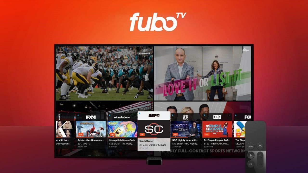 fuboTV现在可以让苹果电视用户同时观看四场体育比赛