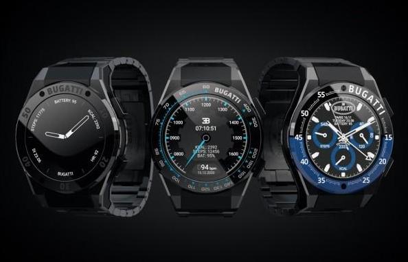 布加迪推出三款设计时尚的新款智能手表