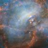 哈勃太空望远镜窥视蟹状星云中心